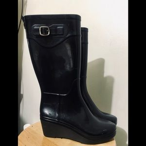 Capelli Black Tall Wedge Rain Boot